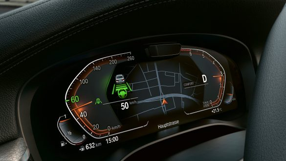 BMW 5er Limousine Fahrerassistenz Anzeige Cockpit