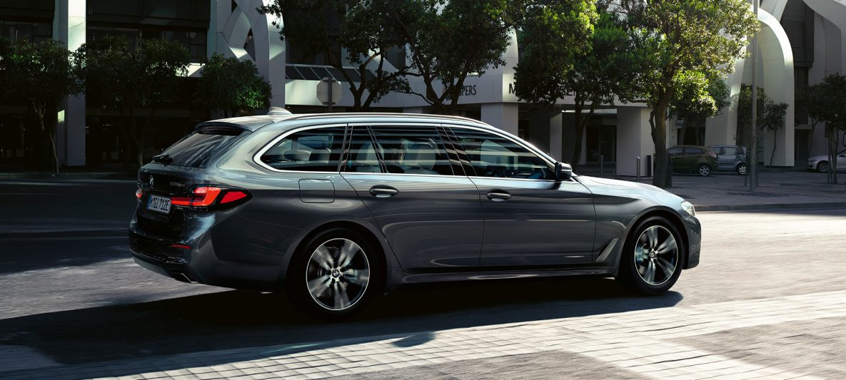 BMW 5er Touring G31 Facelift 2020 Sophistograu Seitenansicht